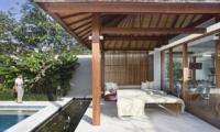 Pool Side Seating Area - Villa Cendrawasih - Seminyak, Bali