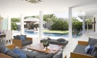 Living Area with Pool View - Villa Cendrawasih - Seminyak, Bali
