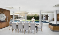 Dining Area with Pool View - Villa Cendrawasih - Seminyak, Bali