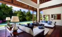 Living Area with Pool View - Villa Champuhan - Seseh, Bali