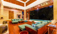 Living Area with Wooden Floor - Villa Champuhan - Seseh, Bali