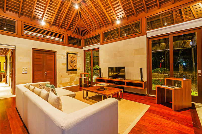 Living Area at Night - Villa Champuhan - Seseh, Bali