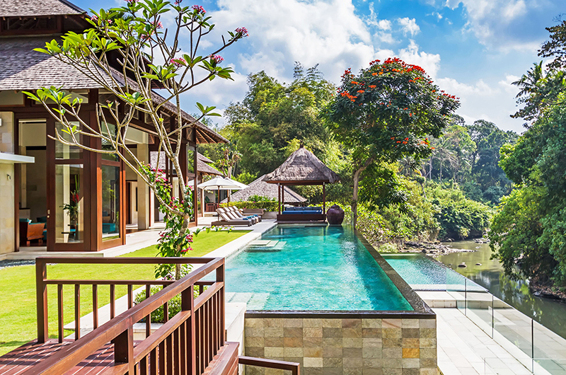 Gardens and Pool at Day Time - Villa Champuhan - Seseh, Bali