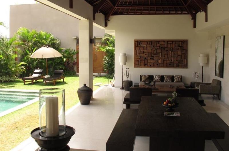Indoor Living Area with Pool View - Villa Chocolat - Seminyak, Bali