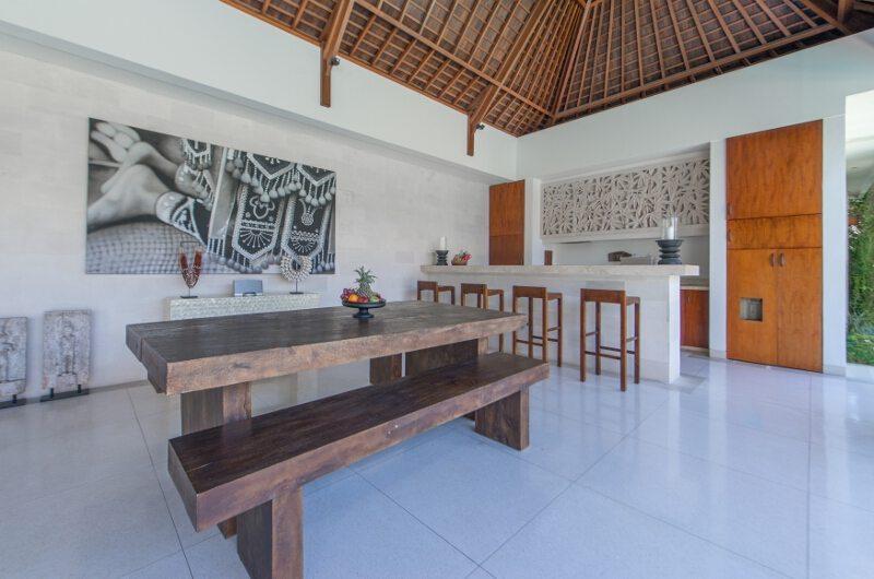 Kitchen and Dining Area with Fruits - Villa Chocolat - Seminyak, Bali