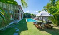 Gardens and Pool at Day Time - Villa Chocolat - Seminyak, Bali