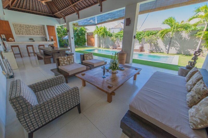 Living Area with Pool View - Villa Chocolat - Seminyak, Bali