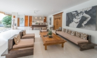 Living and Dining Area with View - Villa Chocolat - Seminyak, Bali