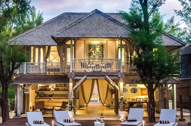 Outdoor Area - Villa Coral Flora - Gili Trawangan, Lombok