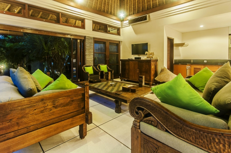 Living Area at Night - Villa Damai - Seminyak, Bali
