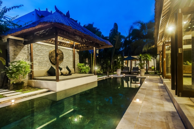 Pool Bale at Night - Villa Damai - Seminyak, Bali