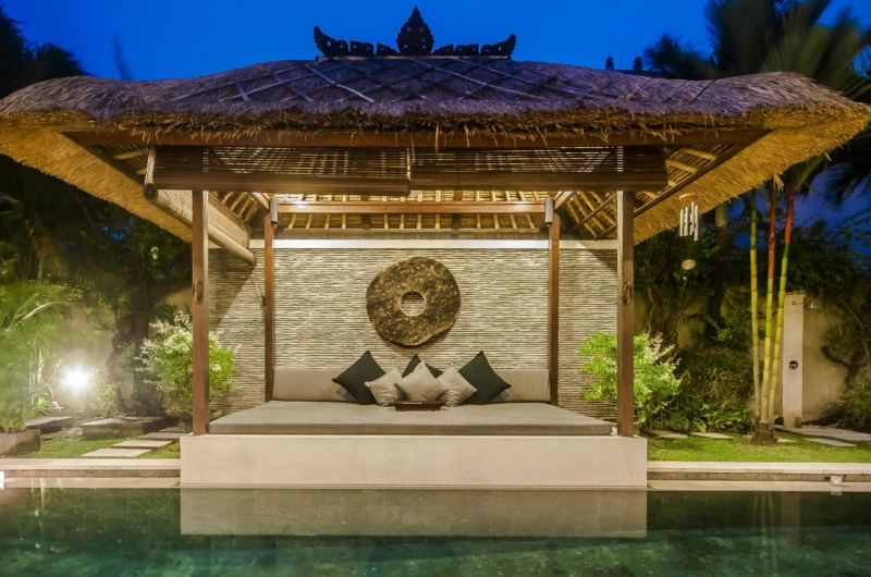 Pool Side Seating Area at Night - Villa Damai - Seminyak, Bali