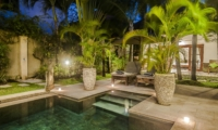 Sun Loungers at Night - Villa Damai - Seminyak, Bali