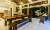 Kitchen and Dining Area at Night - Villa Damai - Seminyak, Bali