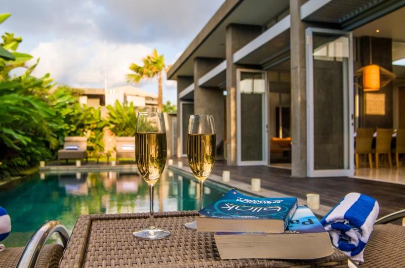 Pool Side Drinks - Villa Damai Aramanis - Seminyak, Bali