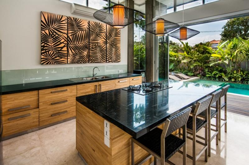 Kitchen with Pool View - Villa Damai Aramanis - Seminyak, Bali