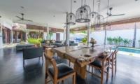 Living and Dining Area - Villa Damai Lestari - Seminyak, Bali