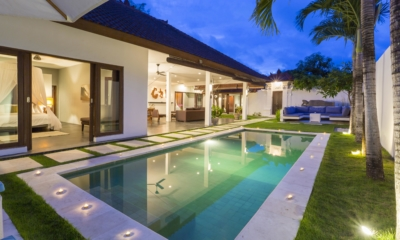 Pool at Night - Villa Damai Lestari - Seminyak, Bali
