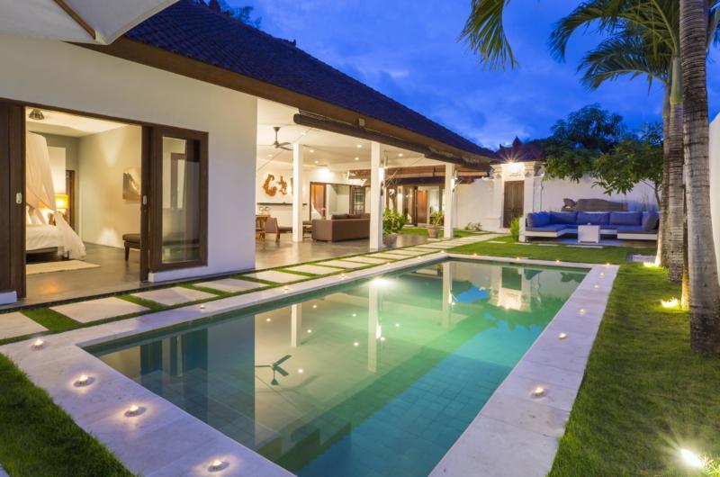 Pool at Night - Villa Damai Lestari - Seminyak, Bali