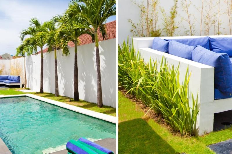 Pool Side Seating Area - Villa Damai Lestari - Seminyak, Bali