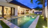 Swimming Pool at Night - Villa Damai Lestari - Seminyak, Bali