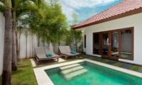 Pool Side Loungers - Villa Damai Lestari - Seminyak, Bali