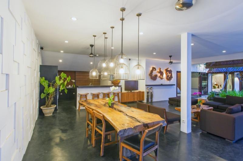 Living, Kitchen and Dining Area - Villa Damai Lestari - Seminyak, Bali