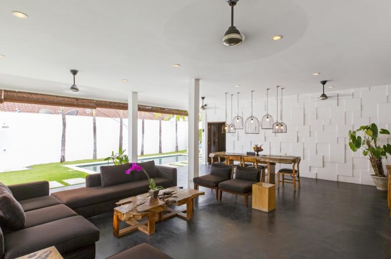 Living and Dining Area with Pool View - Villa Damai Lestari - Seminyak, Bali