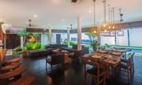 Living and Dining Area with Garden View - Villa Damai Lestari - Seminyak, Bali