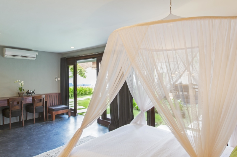 Bedroom with Study Table and View - Villa Damai Lestari - Seminyak, Bali