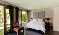 Bedroom with Table Lamps and View - Villa Damai Lestari - Seminyak, Bali