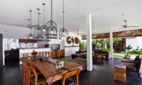Indoor Living and Dining Area with View - Villa Damai Lestari - Seminyak, Bali