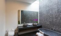 Semi Open His and Hers Bathroom with Bathtub - Villa Damai Lestari - Seminyak, Bali