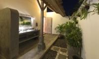 Bathroom with Mirror at Night - Villa Damai Manis - Seminyak, Bali
