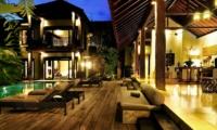 Reclining Sun Loungers at Night - Villa De Suma - Seminyak, Bali