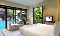 Bedroom with Pool View - Villa De Suma - Seminyak, Bali