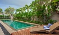 Pool Side Loungers - Villa Delmar - Canggu, Bali