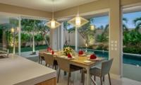 Dining Area with Pool View - Villa Delmar - Canggu, Bali