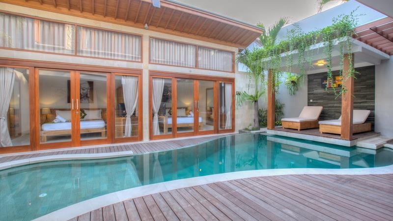 Pool Side Loungers - Villa Denoya - Seminyak, Bali