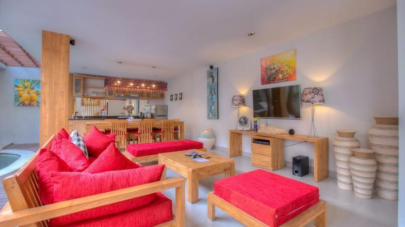 Living and Dining Area - Villa Denoya - Seminyak, Bali