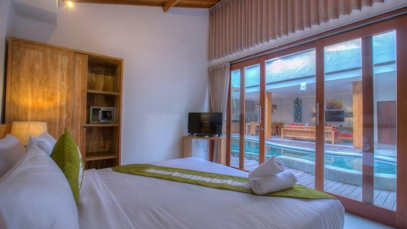 Bedroom with Pool View - Villa Denoya - Seminyak, Bali