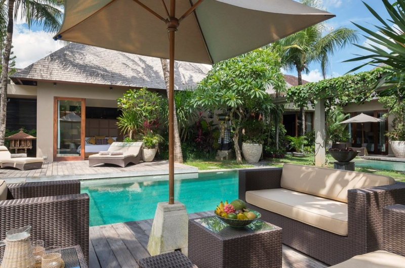 Pool Side Seating Area - Villa Eshara - Seminyak, Bali