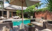 Pool Side Lounge Area - Villa Eshara - Seminyak, Bali