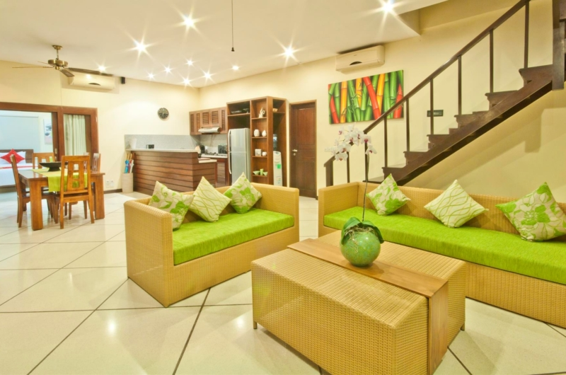 Living, Kitchen and Dining Area - Villa Gading - Seminyak, Bali