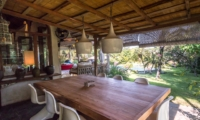 Dining Area with Gardens and Pool View - Villa Galante - Umalas, Bali