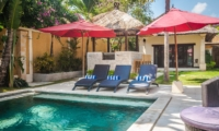 Pool Side Loungers - Villa Gembira - Seminyak, Bali