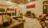 Indoor Living Area with TV - Villa Gembira - Seminyak, Bali