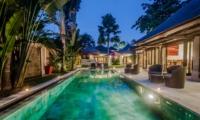Pool at Night - Villa Gembira - Seminyak, Bali