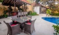 Pool Side Dining - Villa Ginger - Seminyak, Bali