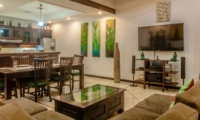 Living, Kitchen and Dining Area - Villa Ginger - Seminyak, Bali
